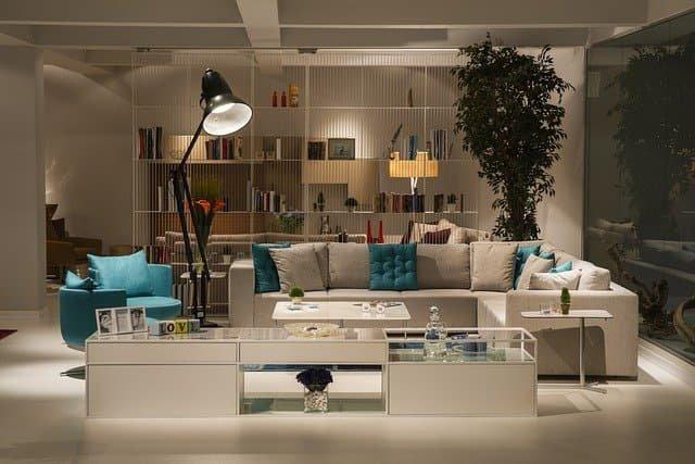 Salon dans un magasin de meubles